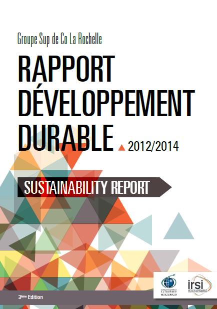 Rapport développement durable 2012-2014 Sup de Co La Rochelle