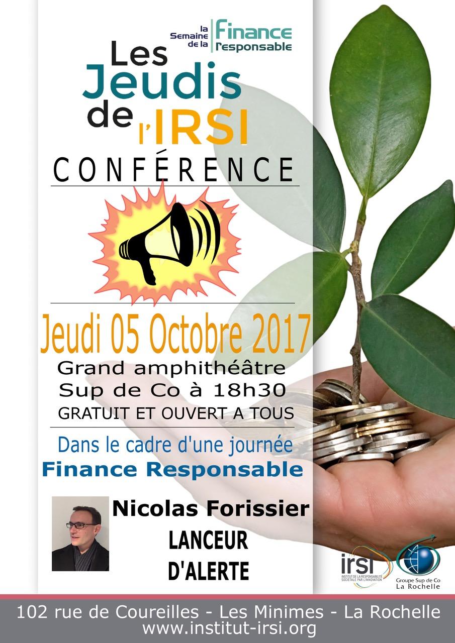 Jeudi de l'IRSI_Lanceur d'alerte_Forissier_171005
