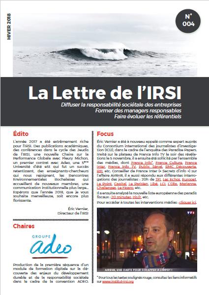 Lettre de l'IRSI_4_hiver 2018